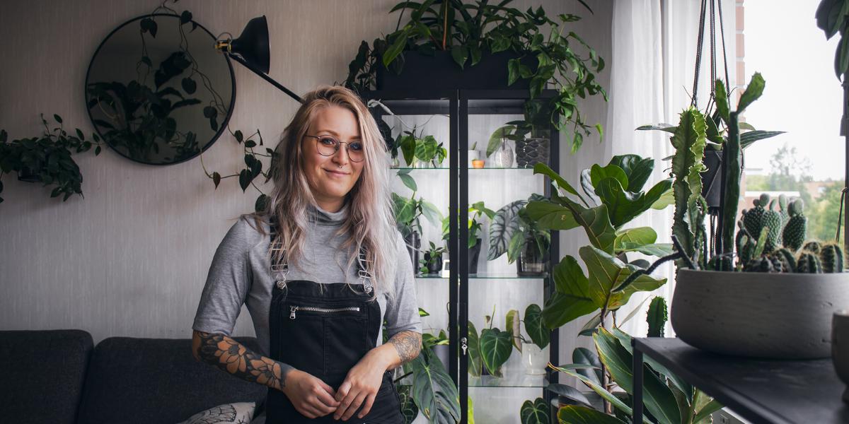Kundberättelse: Jessica i Vasa har en urban djungel hemma